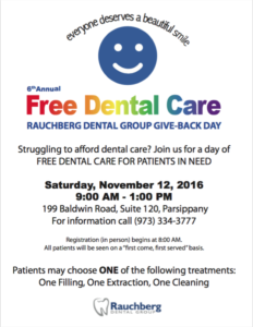 6th annual free dental care at Rauchberg Dental Group