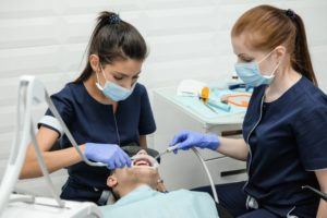 dental assistants hard at work